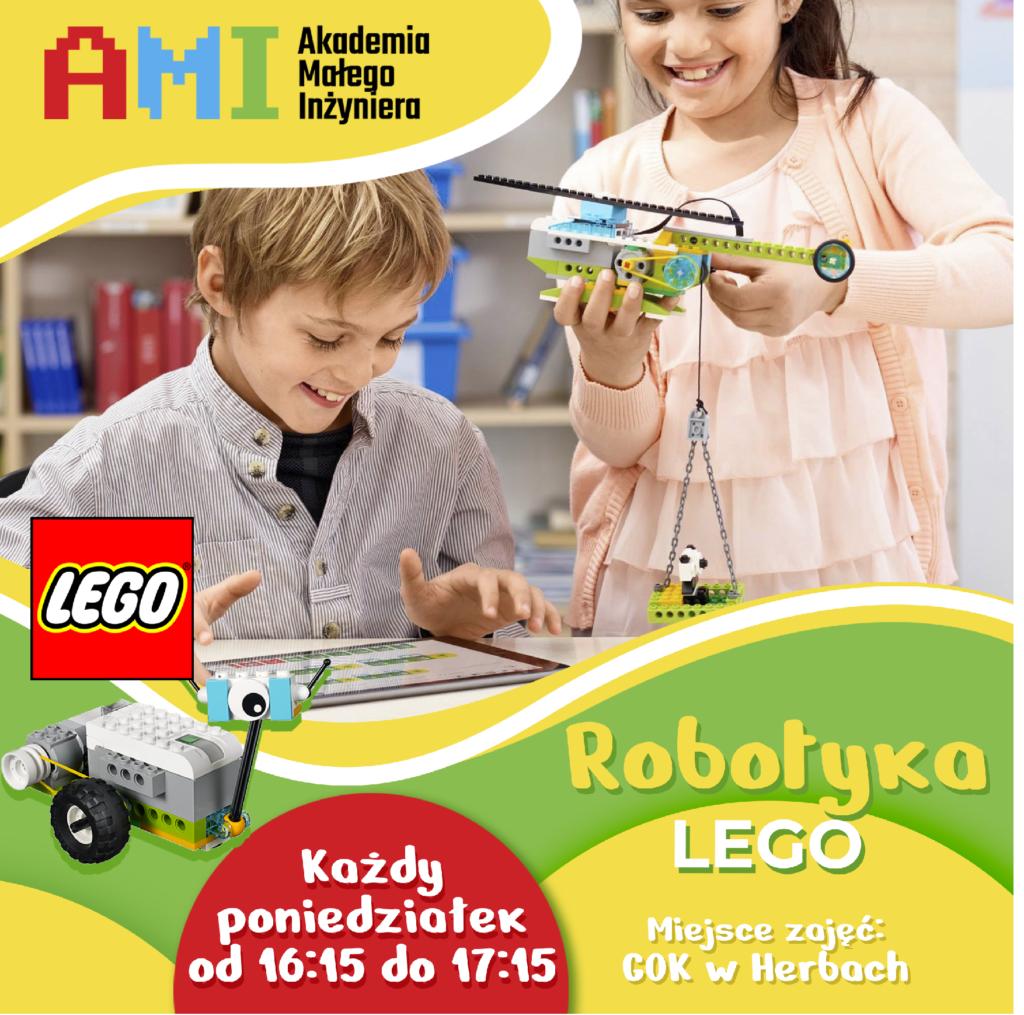 plakat przedstawiający  robotyka lego