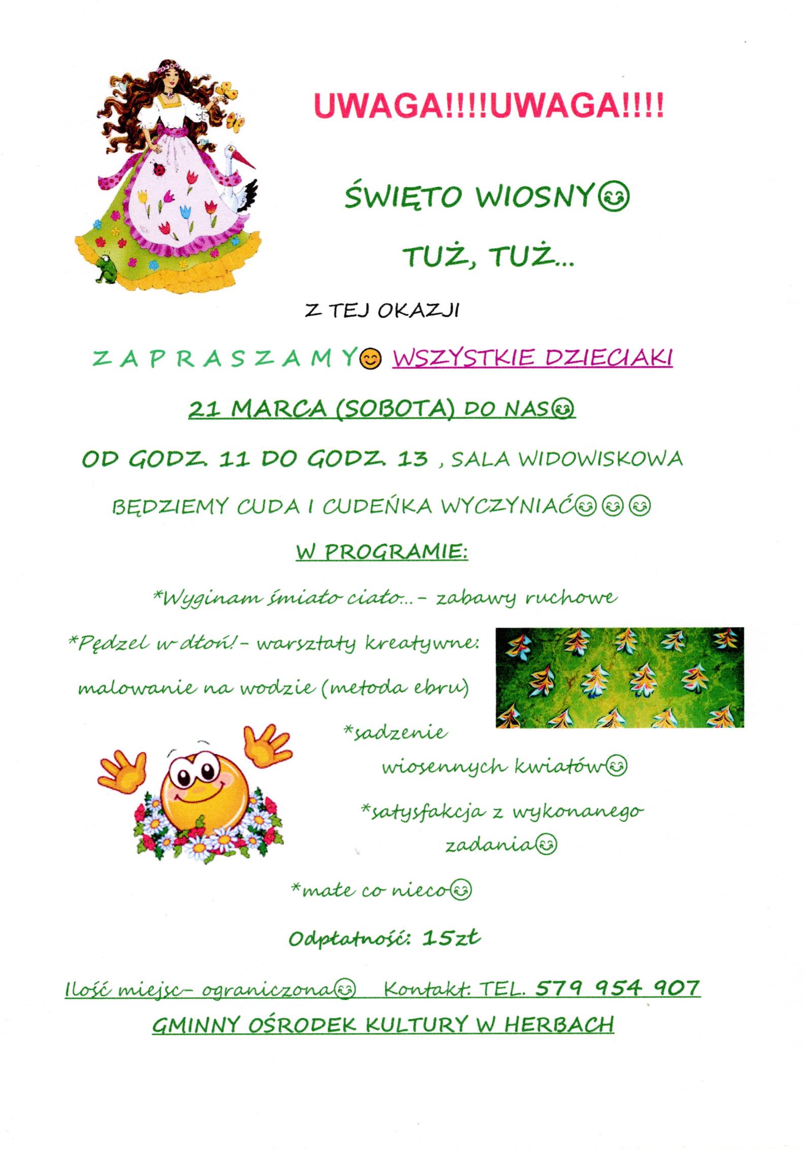 Święto wiosny - plakat informacyjny