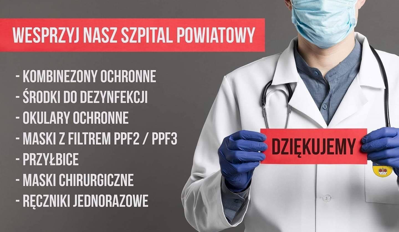 Pomoc dla szpitala Powiatowego w Lublińcu