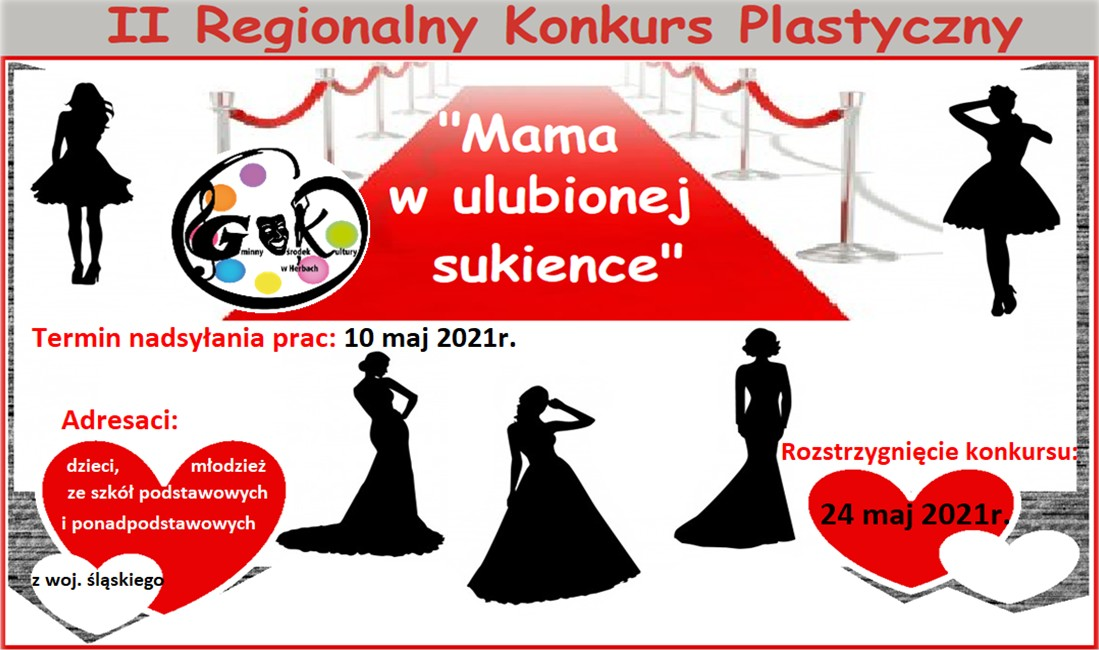 Plakat II Regionalnego Konkursu Plastycznego - Mama w ulubionej sukience