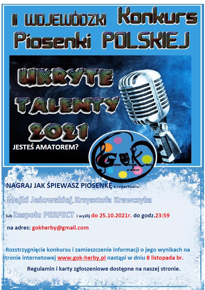 plakat konkursu UKRYTE TALENTY 2021